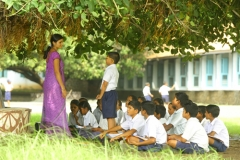 Outdoor teaching at Kalyani Shala, the first school established by Atul